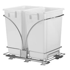 Glidez 9-Gal Double Waste Can Storage Caddy