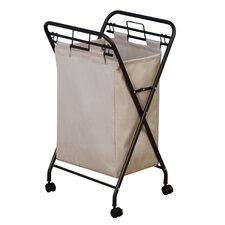 Hamper with Lift Out 600D Polyester Bags