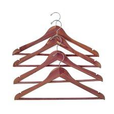 Cedar Hanger with Fixed Bar (Set of 4)