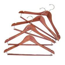 Space Saver Cedar Hanger with Locking Trouser Bar (Set of 4)