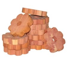 Solid Cedar Flower Ring for Hangers (Set of 6)