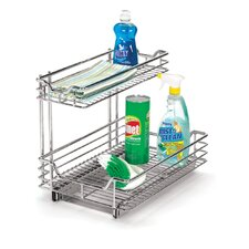 "Glidez 12.5"" Under Sink Sliding Organizer KD in Chrome"