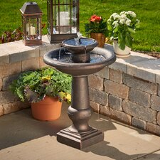 Chatsworth Two-Tier Solar On-Demand Fountain
