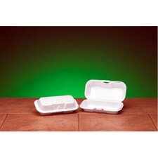 Foam Hot Dog Hinged Container in White
