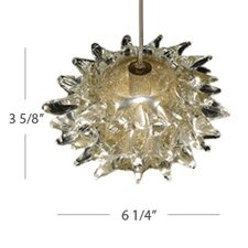 Lavai Art Glass Pendant with Clear Gold Shade