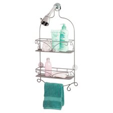 Shower Head Caddy in Pearl Nickel