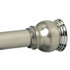 Finial Shower Rod in Satin Nickel