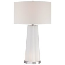 """30"""" H Table Lamp with Drum Shade"""