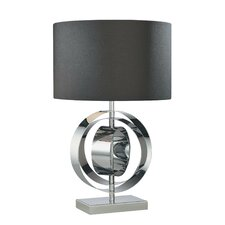 "Portable 25.25"" H Table Lamp with Drum Shade"