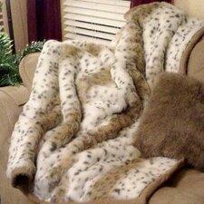 Lynx Jacquard Faux Fur Throw Blanket