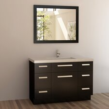 "Moscony 48"" Single Bathroom Vanity Set with Mirror"