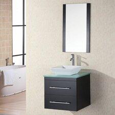 """Portland 26"""" Single Elton Bathroom Vanity Set with Mirror"""