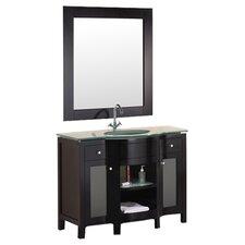 "Rome 43"" Single Bathroom Vanity Set with Mirror"