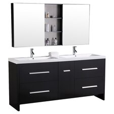 "Perfecta 72"" Double Bathroom Vanity Set with Mirrors"