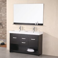 "Citrus 48"" Double Bathroom Vanity Set with Mirror"