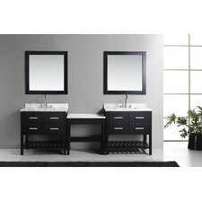 "London 102"" Double Bathroom Vanity Set"