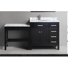 "London 66"" Single Bathroom Vanity Set with Mirror"
