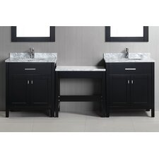 "London 90"" Double Bathroom Vanity Set with Mirror"
