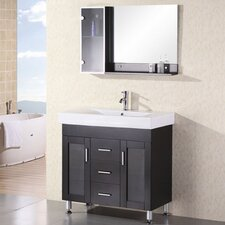 "Miami 36"" Single Bathroom Vanity Set with Mirror"