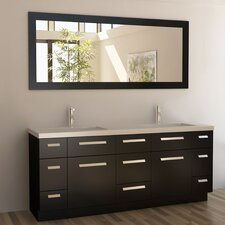 "Moscony 72"" Double Bathroom Vanity Set with Mirror"