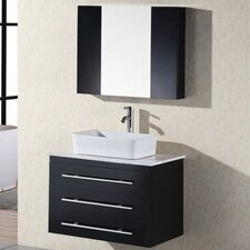 "Elton 30"" Single Bathroom Vanity Set with Mirror"