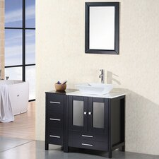 "Jacobson 36"" Single Bathroom Vanity Set with Mirror"