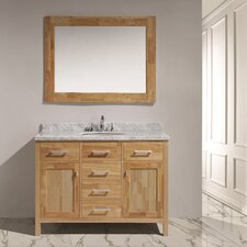 "London 48"" Single Sink Vanity Set with Mirror"