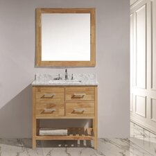 "London 36"" Single Sink Vanity Set with Mirror"