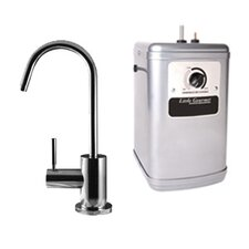 Contemporary One Handle Single Hole Instant Hot Water Dispenser Faucet Kit with Heating Tank