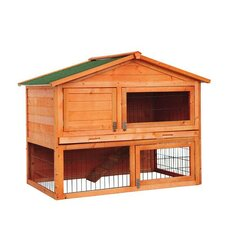 "Pawhut 48"" Deluxe 2-level Backyard Bunny Rabbit Hutch House"