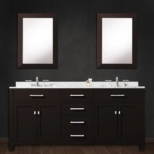 "Madison 60"" Double Bathroom Vanity Set with 2 Mirrors"