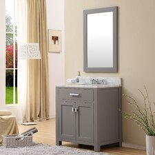 "Madison 30"" Single Sink Bathroom Vanity Set with Mirror"