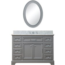 "Derby 48"" Single Sink Bathroom Vanity Set with Mirror"