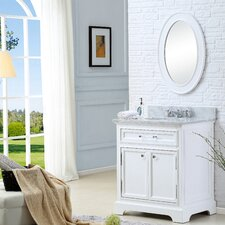 "Derby 30"" Single Sink Bathroom Vanity Set with Mirror"