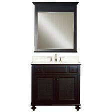 "London Water Creation 36"" Single Bathroom Vanity Set with Mirror"