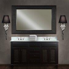 "London Water Creation 60"" Double Bathroom Vanity Set with Mirror"