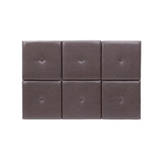 Tessa Faux Leather Headboard Tiles in Brown