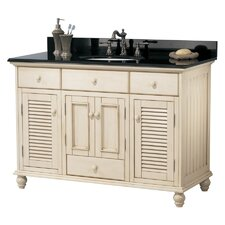 """Cottage 48"""" Single Vanity in Antique White"""