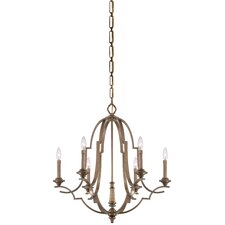 Leicester 6 Light Candle Chandelier