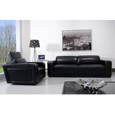 Spiros 2 Piece Leather Living Room Set