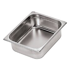 Stainless Steel Hotel Pan - 2/4 in Silver