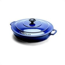Stainless Steel 3 Qt. Cast Iron Round Dutch Oven