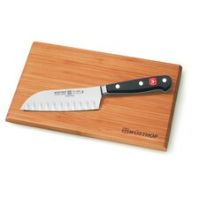"Classic 5"" Hollow Edge Santoku Knife with Board"