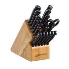 Gourmet 18 Piece Knife Block Set in Beech