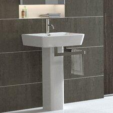 Emma Full Pedestal Overflow Bathroom Sink