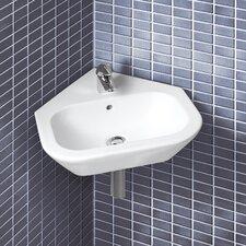 Universal Nexus Wall Mount Corner Bathroom Sink