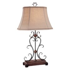 "32.5"" H Table Lamp with Bell Shade"