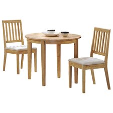 Lunar Extendable Dining Table and 2 Chairs
