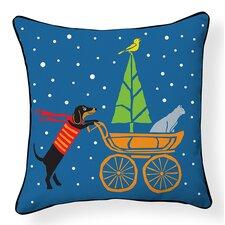 Dog, Cat and Baby Stroller Indoor/Outdoor Throw Pillow