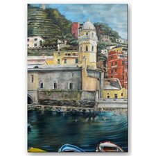 'Italian Colors' by Jennifer Lycke Painting Print Plaque